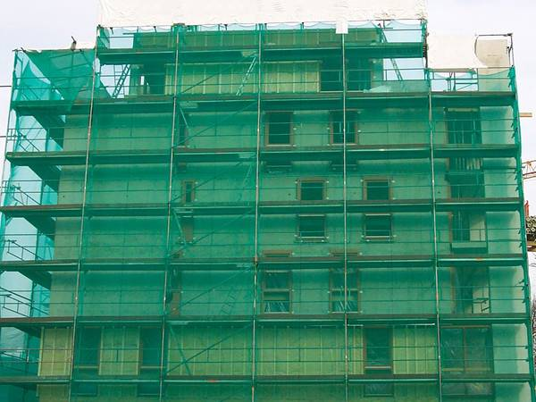 Construction Safety Netting Is Used In High Rise Construction