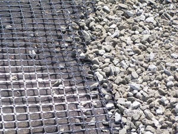 Plastic Geogrids Single Double Compound Extruded Plastic Net