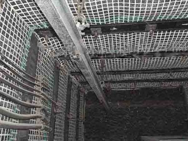 Stretched Plastic Mine Support Mesh For Mine Roadway