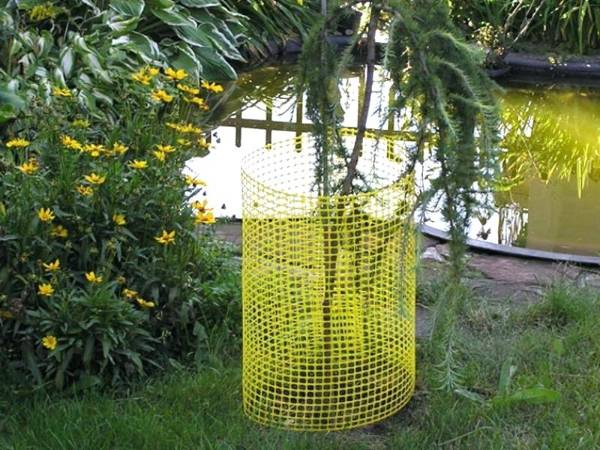 Plastic Mesh Is Used For Tree Guards With Roll Packing