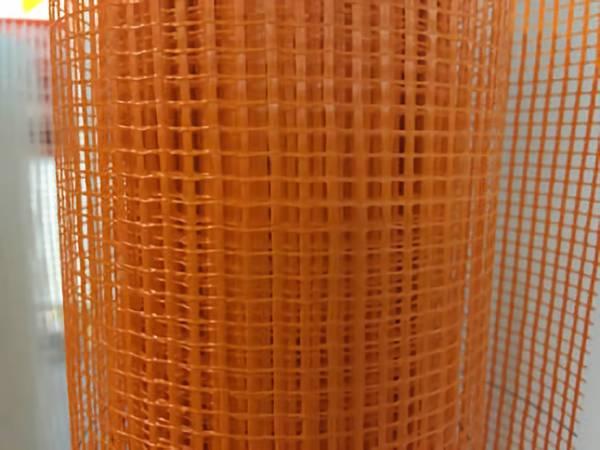 Orange Plastic Mesh Knitted Safety Barrier Fencing