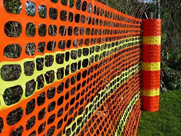 Plastic Netting As Safety Fencing Or Warning Barrier For